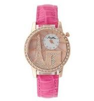 Fashion Watch Brand Ladies Women diamond Watches Rhinestone Paris Eiffel Tower Design PU Leather Strap Quartz Montre Femme