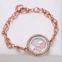 DIY bracelet wholesale  Hot sale cheap floating jewelry  Zinc alloy floating locket bracelets