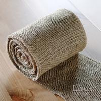 2.5 inch *3meters/roll ,3 Rolls/lot, Piped Jute Burlap Roll Hemp Burlap Fabric Natural Jute Spool Roll Sewing Hemp