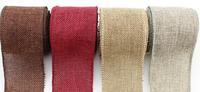 5cm*3meters/roll ,3 Rolls/lot, Piped Jute Burlap Roll Hemp Burlap Fabric Natural Jute Spool Roll Sewing Hemp