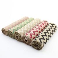 5 inch *3meters/roll , Piped printed Jute Burlap Roll Hemp Burlap Fabric Natural Jute Spool Roll Sewing Hemp