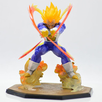Vegeta battle state Super Saiyan action figure,PVC 15cm 6 inch Dragon Ball z figurines Dragonball anime model toy for collection