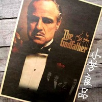 Vintage Retro Paper movie poster - The godfather 42*30cm& Retro painting decoration home living room wall pictures