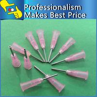 Free shipping 30mm 18G Pink Dispenser Needle Tip Stainless Steel Tip Dispensing Needles Syringe Needle Tips