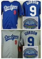 cheap stitched 2014 LA dodgers Los Angeles Dodgers 9 Dee Gordon men's baseball jersey/baseball shirt