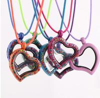 DIY necklace wholesale   Zinc alloy floating locket necklace,  heart floating locket