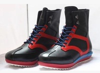 45 44 43 42 38 39 Men Autumn Boots Boys Sports Genuine Leather Boots Young Mixed Color Casual Wedges Shoes Plus Size 12 11 6 7 8