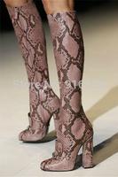 Luxury Women Knee High Autumn Boots Genuine Leather Motorcycle Boots Size 43 Platform Riding Botas Femininas Brand Zapatos