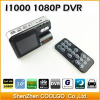 FHD 1080P i1000 Vehicle Camera Car DVR Dash Cam Black Box with Remote Control Vehicle View Dashboard Cameras