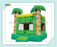 2014 funny and interesting tropical tree inflatable castle, jungle jumper