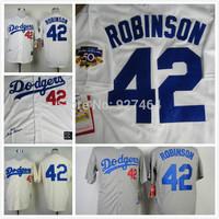 cheap stitched 2014 LA dodgers Los Angeles Dodgers 42 Jackie Robinson men's baseball jersey/baseball shirt