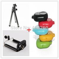 Free shipping 3pcs/lot Camera Mini Tripod+Phone Clip Holder+Bluetooth Camera Shutter for Phone Samsung Android GP55C