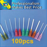 100pcs/lot 13 Models PP Dispensing Tapered Pinhead Glue Liquid Dispenser Needles for Dispenser Controller