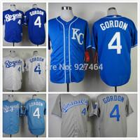 cheap stitched 2014 Kansas City Royals 4 Alex Gordon cool base men's baseball jersey/ shirt