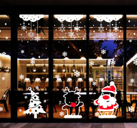 Wall post Christmas LaoRenShu condole deer snow curtains merry Christmas stickers glass window in the New Year 91160