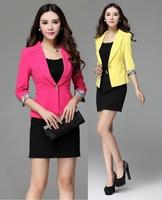 New 2014 Femininos Professional Business Women Suits Blazer And Skirt Fashion Slim Ladies Office Elegant Work Uniforms S-4XL
