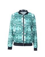 Pyramid Theme One Size Women Cardigans Fall Winter Digital Printing Hoodies Thin Sweaters Fashion Sweatshirt