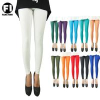 Fancyinn Brand Winter Thin Super Elastic Solid Color Girl's Leggings Skinny Casual Women Pant 11 Styles