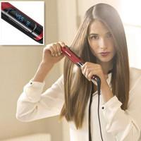 Red Remington S9600 Tstudio Silk Ceramic Flat Iron 1 inch Hair Straightener Hairdressing Styling Straightening Iron M25029