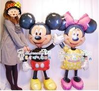 2pcs/Pair On sales promotion Cartoon mickey Boy + girl stock birthday party balloons