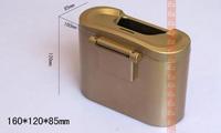 free shipping large capacity style Gold and silver colors car Environmental non-toxic odorless Car Trash Rubbish Can
