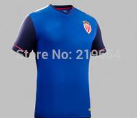 Monaco away bule 14-15 seasons thai  top quality embroidery LOGO player version soccer jersey free shipping shirts