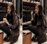 2014 fake fox fur vest vest in the long section of Korean large lapel long Ma Jianv special fur