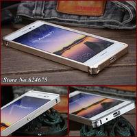 P7 Aluminum Case for Huawei Ascend P7 Mobile Phone Luxury Brand Armor Full Aluminum Metal Cases No Screw Bumper Retail Box +gift