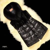 2014 new vest ladies imitation leather imported sheep skin mink fur fox fur imitation fur vest
