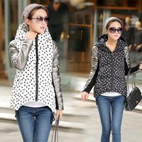 2014 new winter lady down jacket hooded cloak type Korean big yards down jacket women