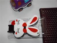 Luxury Handmade 3D cartoon hello kitty ,ali the fox, rabbit with mirror cover case for Sony Xperia SP M35h C5302 C5303