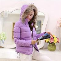 2014 new winter jacket hooded slim female Korean Korean Cape fur collar shape short coat jacket