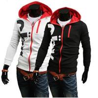 Fashion Mens' Zipper Hoodies Jacket Top Designed Slim Cardigan Casual Sport Sweatshirt Coat Plus Size M L XL XXL XXXL CX656781