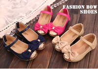 2014 new autumn  X-1 bow performing single shoes Princess glitter leather shoes with beautiful bow