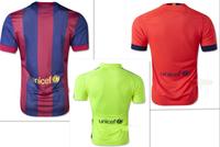 Top Thai NEYMAR JR Jersey 2015 PIQUE I.RAKITIC PUYOL XAVI Soccer Jersey MESSI Camiseta INIESTA SUAREZ Shirts  Player Version