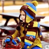 New Winter Plane Children Skullies & Beanies Scarf Hat Set Baby Boys Girls Knitted Kids Hats & Caps Wholesale #1014