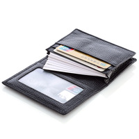 Unisex Genuine Leather Credit ID Card Holder Business card case Pocket Wallets Purse