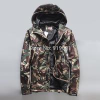 Brand bape Seiko camouflage ski-wear male hooded jacket 3 M reflective Ape-man windbreaker