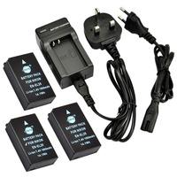 3pcs DSTE EN-EL20 Digital Battery with EU&UK Charger for Nikon Coolpix A, 1 J1, 1 J2, 1 J3, 1 AW1