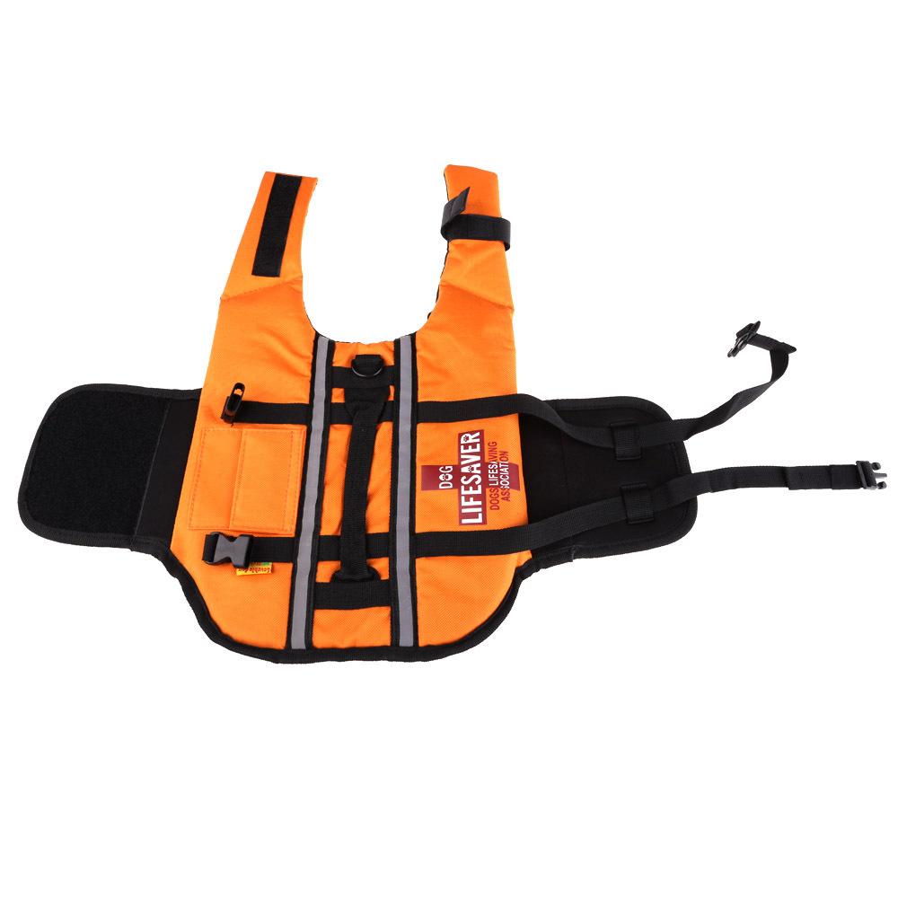 #Cu3 New Fashion Orange Dog Pet Float Life Vest Jacket Aquatic Safety Saver Swimming Boating(China (Mainland))