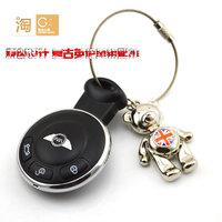 MINI Cooper Clubman Countryman R56 F56 Tai Chi Bear Union Jack remote keychain, hands and feet rotate bear key ring