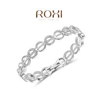 Wholesale ROXI Fashion Accessorie CZ Diamond Clear Austria Crystal with SWA Element Charming E Pattern Bracelet for Women