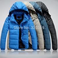 2014 Hot Sale High Quality Winter Jacket Coat For Men Hoodie Plush Size Duck Down Jacket Men Thick Coat