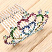 Fashion kid's rhinestone princess crowns for kids tiara