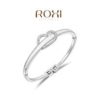 Wholesale ROXI Fashion Accessorie CZ Diamond Clear Austria Crystal with SWA Element Charming Love Heart Bracelet for Women