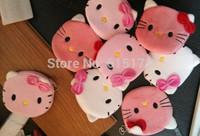 12pcs FREE SHIPPING Kawaii Cute Novelty Item Zipper Girl Cartoon Bag Mini Change Plush Cat Hello Kitty Coin Purse Pouch bolsa