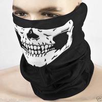 Halloween Skull Skeleton Motorcycle Bicycle Ski Multifunctional Headwear Hat Scarf Half Face