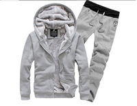 Winter new cashmere hooded  tide male  thick warm winter clothes men's leisure suits, sports clothes blazer