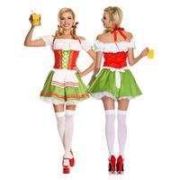 new sexy strapless European Oktoberfest Halloween beer girl costume