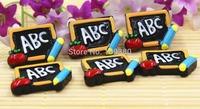 new arrival flatback resin ABC blackboard for kids children accessaries